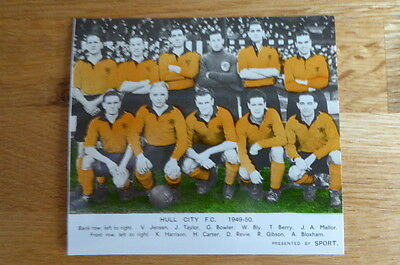 Sport : Team Picture Book Photo Hull City Football Team  1949/50