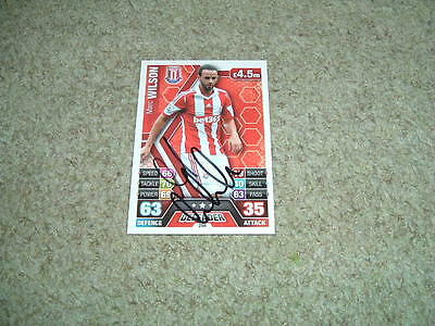 Marc Wilson - Stoke City - Signed 13/14 Match Attax Trade Card