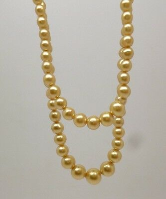 Vintage Freshwater Pearls Double Graduated Necklace & 835 Sterling Silver Clasp