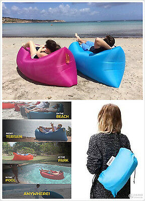 New xmas Inflatable Sofa Air Bed Lounger Chair Outdoor Sleeping Camping Bed