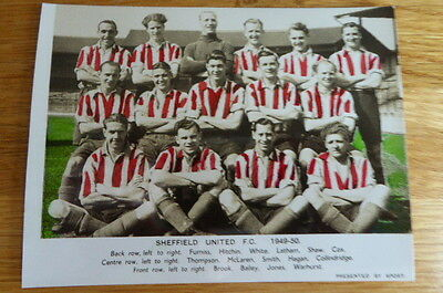 Sport : Team Picture Book Photo Sheffield United Football Team  1949/50