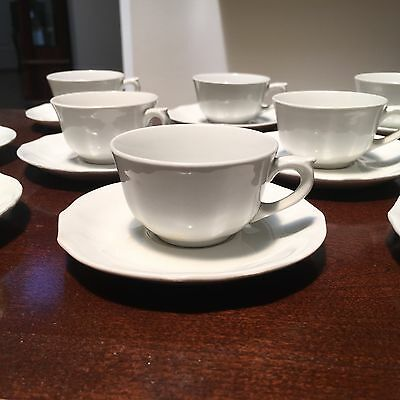 Set of 9 Retro ARABIA FINLAND Porcelain Demitasse/Espresso Cups & Saucers