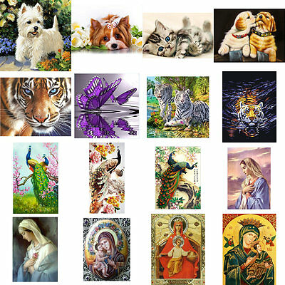 DIY 5D Diamond Madonna / Animal Embroidery Painting Cross Stitch Kits Home Decor