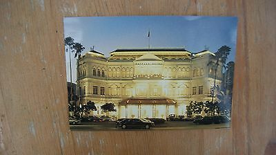 Night view of Raffles Hotel, Singapore postcard