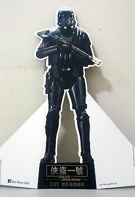 """Star Wars Rouge One Death Trooper 14"""" Paper Stand Poster Movie Hong Kong version"""