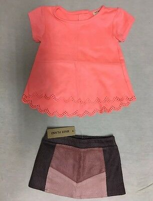 Velvet Top And Skirt Set River Island Minis Girls 0-3 Mounts