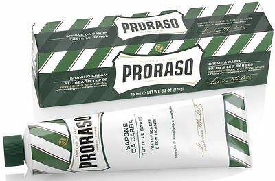 Proraso Eucalyptus and Menthol Shaving Cream 150ml Green Tube