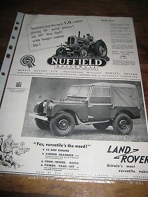 Nuffield Tractor/Land Rover Advert/Sales Brochure.