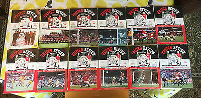Job Lot of 12 Manchester United first division programmes from 1981-92