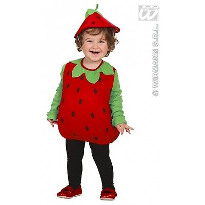 Toddler Unisex Boys Girls Strawberry Costume Outfit for Food Theme Fancy Dress