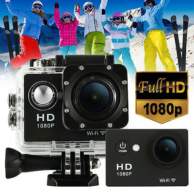 2'' 170° WIFI 1080P HD 12MP Helmet Sports Camera Action Cam Video DVR Waterproof