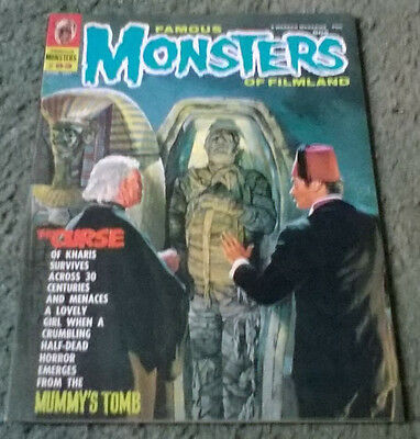 famous monsters of filmland #83,april,1971,high grade vf,bagged & boarded
