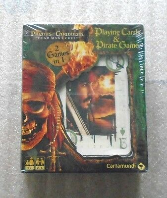 Pirates of the Caribbean Dead Man's Chest Playing Cards & Pirate Game New & Seal