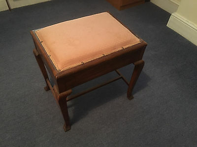 Upholstered Piano stool  with lifting lid storage