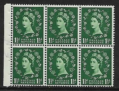 SB62 Wilding booklet pane Edward perf type Ie Top UNMOUNTED MNT/MNH