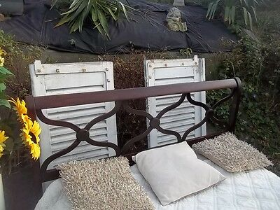 Fantastic French Vintage Mahogany Colonial Style Double Bedstead And  2 Cabinets