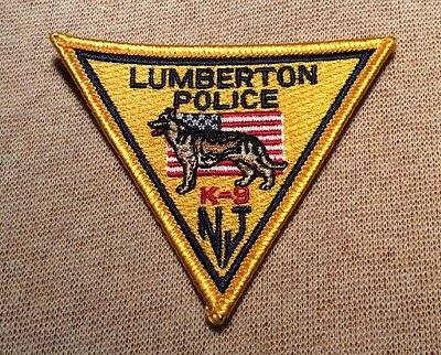 NJ Lumberton New Jersey K-9 Unit Police Patch (3In)