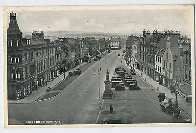 The High Street Montrose Angus Scotland Vintage Postcard W