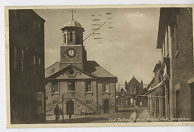 Old Tolbooth & Hall Sanquhar Dumfries & Galloway Scotland Vintage Postcard W