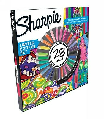 New Sharpie Limited Edition Permanent Markers Assorted Ink Pack of 28