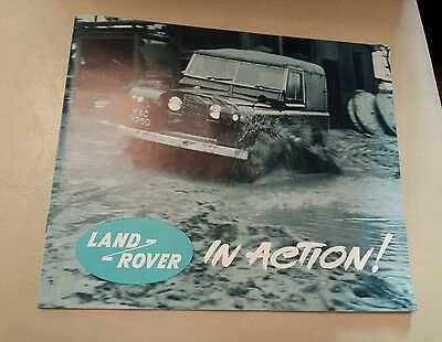 LAND ROVER in Action 4x4 Car Sales Publicity Brochure 1964 #600F