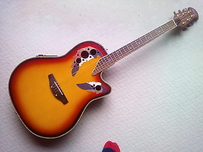 Ovation style electro acoustic guitar
