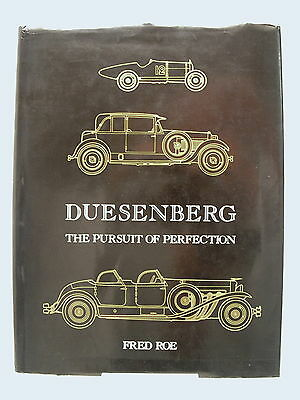 DUESENBERG 'The Pursuit Of Perfection' H/B Book ©1982 1st Edition RARE & V.GOOD