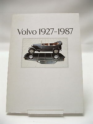 VOLVO 1927 - 1987 S/B History Book (Dealer Only) 80pgs *EXCELLENT CONDITION*