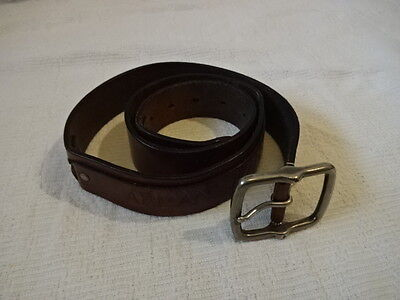 "ARMANI Mens Brown Leather Belt Size 50"" 105cm USED"