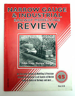 Narrow Gauge and Industrial Review Magazine issue 45 - some pages missing.