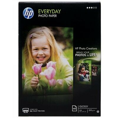 HP A4 Everyday Glossy Photo Paper 100 Sheets Compatible With All Inkjet Printers