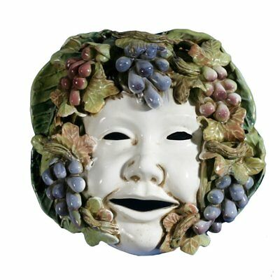 Intrada Italy Extra Large Mask with Grapes Wall Décor