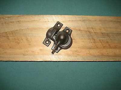 Vintage Window Latch Sash Lock Swing Arm Old Steeple Top Cast Iron Cabinet