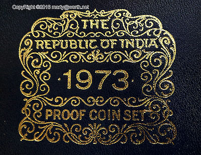 1973 Republic Of India Proof 9 Coin Set original owner for 43 years !!!
