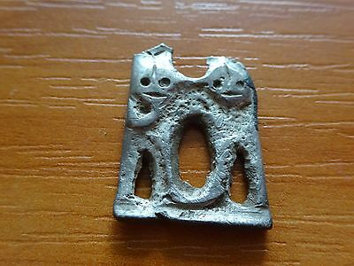 Part of the Ancient Celtic Silver of the Application with two Heads / FRAGMENT.