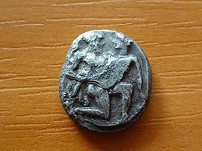 """Thasos, Thrace 510-490 BC Silver AR Stater """"Satyr & Nympf"""" Ancient Greek Coin"""