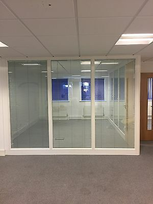 Glass Partition Office Doors With Blinds