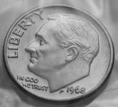 1968-P Roosevelt Dime From Mint Set