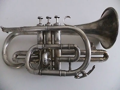 Besson & Co Prototype Silver Plated Cornet vintage