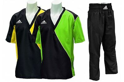 ADIDAS Semi Contact Kickboxing Suit - Green / Yellow (was £53.99)