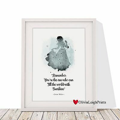 Disney Snow white Word Art Print-Wall Art-Gift-Childrens-Nursery-Quote