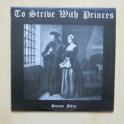 SIMON FOLEY To Strive With Prices UK private press folk LP with booklet & letter