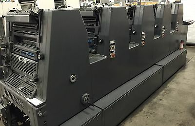 Heidelberg GTOF-S 52 5 Color With Console 1995 Under power Can Be Tested