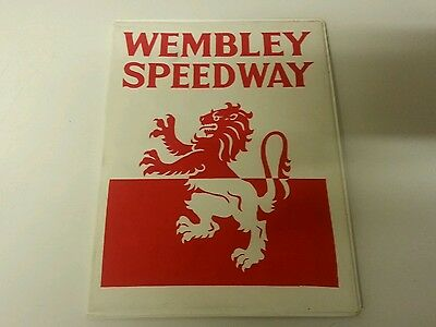 Rare 1970's Wembley Speedway Programme Board