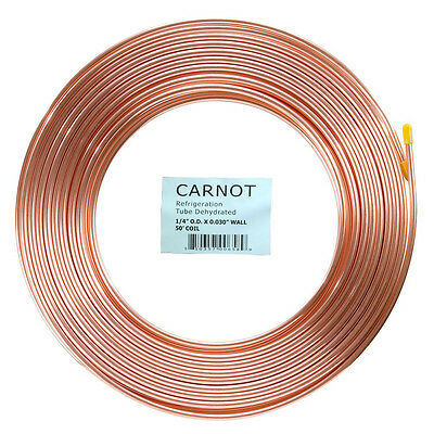 Copper 1/4 inch x 50 ft Tubing Soft Type Refrigeration Pipe ON SALES