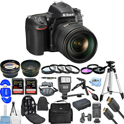 Nikon D750 24.3MP DSLR Camera with 24-120mm Lens!! ALL YOU NEED KIT BRAND NEW!!
