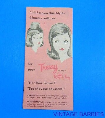 American Character Tressy' Doll Booklet Excellent  ~ Vintage 1960's