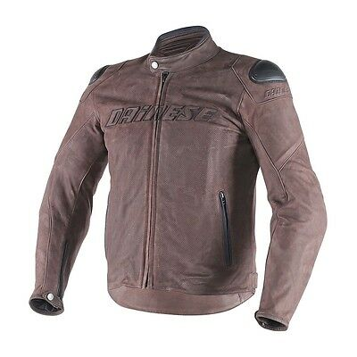 Dainese Street Rider Perforated Leather Jacket Size EU 56 US 46 1533707-005-56