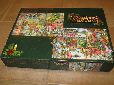 Christmas Wishes- 2 x 1000 piece Christmas Collection Jigsaw Puzzles