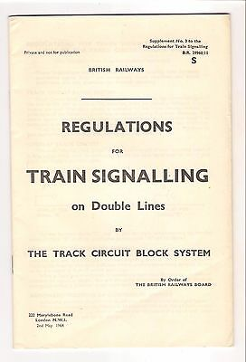 BR Regulations for Train Signalling on Double Lines May 1964